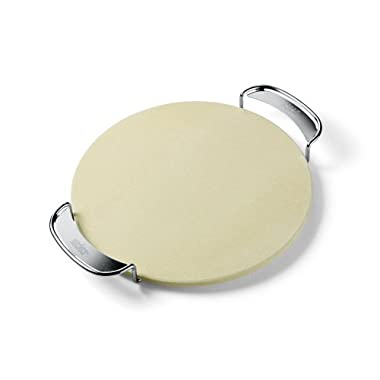 Weber 8836 Gourmet BBQ System Pizza Stone with Carry Rack