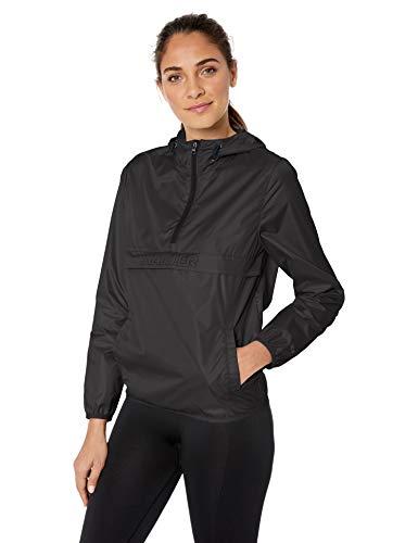 Starter Women's Standard Popover Packable Jacket, Black, Small