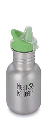 Klean Kanteen Edelstahlflasche Flasche Kid Sippy - Botella de Agua para Bicicletas, Color Plateado, Talla 0.355 litros