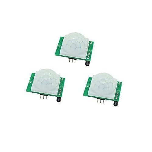 Neuftech 3pcs HC-SR501 PIR Módulo de Sensor de Motion por Infrarrojos Cuerpo Piroelectricidad Para