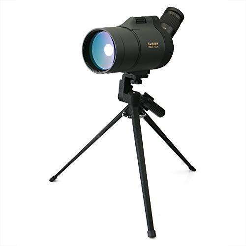 Svbony SV41 Telescopio Terrestre 25-75x70AE MAK Spotting Scope FMC BAK4 IPX7 Impermeable Telescopio Terrestre con Trípode de Mesa para Tiro Caza Observación de Aves Paisaje de Vida Silvestre