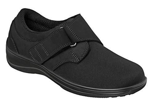 Orthofeet Proven Bunions and Foot Pain Relief. Orthopedic Arthritis Diabetic Women's Stretchable Shoes Wichita Black