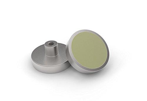 Samarium Cobalt platte grijper, SmCo Ø 6 x 4,5 mm, verzinkt