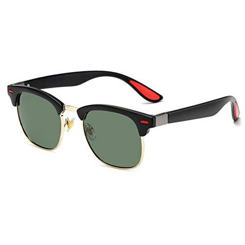 SCAYK Classic Polarized Sunglasses Hombres Mujeres Retro Diseñador de Marca Gafas de Sol Hembra Hombre Masculina Espejo Sunglass Sunglasses para Hombres Gafas de Sol (Lenses Color : C2)