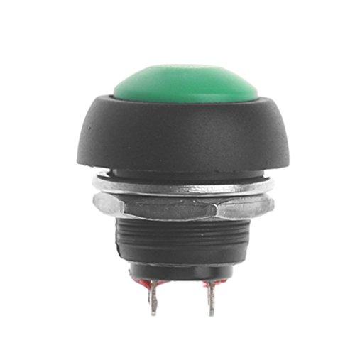 Fagu 1PC DS-333B Interruptor de botón pulsador momentáneo Impermeable 3A / 125V 1A / 250V Montaje Ф12mm
