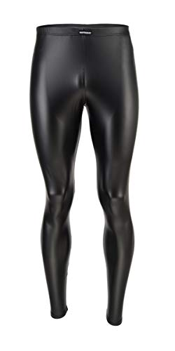 Vantissimo Herren Leder Leggings Made in Germany Lederhose Herren in Schwarz Matt Leder-Optik Kunstleder enganliegend Hose, Meggings Wetlook Leggings Latex Leggings Lack Leggings (Schwarz-Matt, XL)