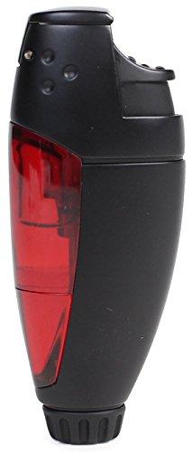 WINDMILL(ウインドミル) ガスライター BEEP3 バーナーフレーム マットブラック レッド BE3-1008