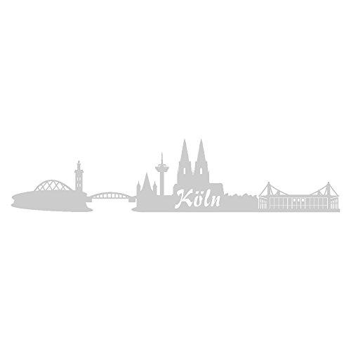 Samunshi® Aufkleber Köln Skyline Autoaufkleber 20cm Nr.6: Silber