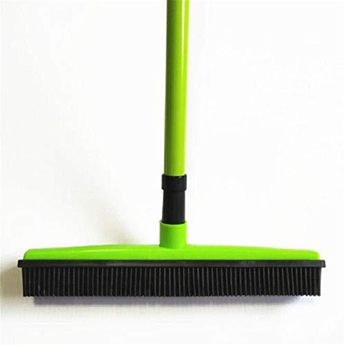RZJF Multifunktionale Teleskopischen Carpet Ginster, Enthaarung Antihaft- Kunststoff Besen Reinigungsbürste, Haushalts Wischmopp Und Teppichreiniger,Grün