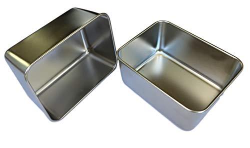 2 contenitori in acciaio inox per alimenti, strumenti, utensili – cucina & casa & officina – 13,5 x 10 x 5,9 cm