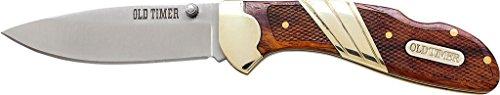 Schrade - Couteau d'extérieur - Longueur de la Lame : 6,98 cm - Vieux Timer Medium Lockback