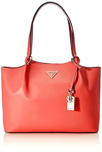 Guess Tangey Girlfriend Carryall Borsa a Tracolla da Donna, Corallo, Taglia Unica