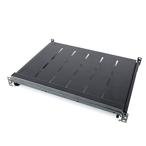 RackMatic - Bandeja telescópica para rack-19 de 1U y fondo 350mm 375-645mm para teclado