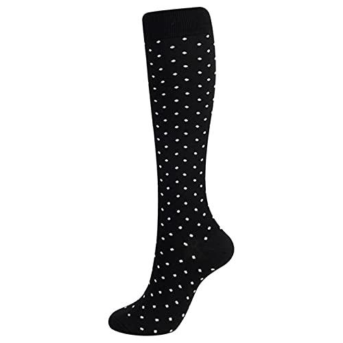 ABCABC Deportes Medias de compresión Hombres Mujeres Senderismo Calcetines 20-30 Marathon Sports Socks (Color : White Dots, Size : S1/M1)