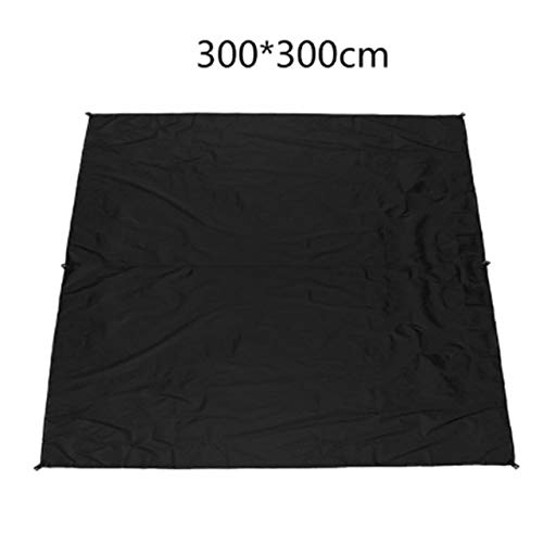 YQS Sunshade Sails 10X10Ft Waterproof Camping Tarp,Rainfly Tent Tarp,Hammock Rainfly,Picnic and Beach Mat,Sunshade (Color : Black, Size : 33M)