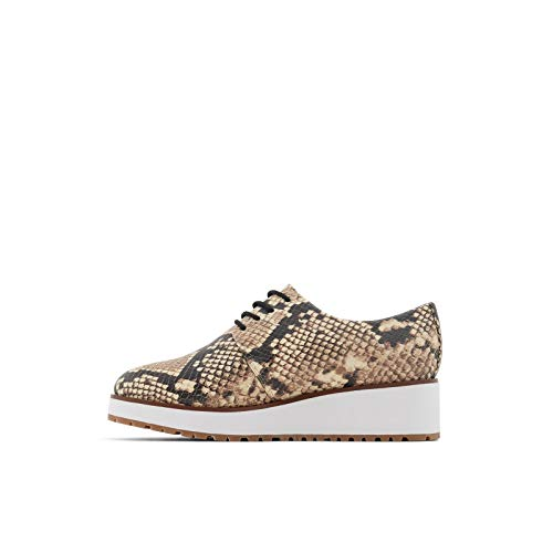 ALDO Women's Lovirede Oxford Wedge Shoes Flat, Natural, 10