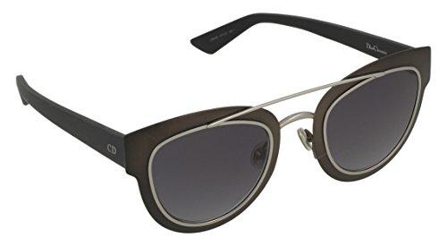 Dior Diorchromic HD Gafas de sol, Black Metallized, 47 para Mujer