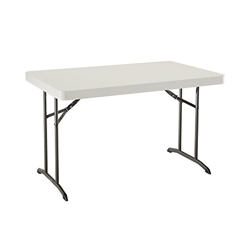 Lifetime 80568 Table Pliante 122 cm-Beige Amande, 122,5 x 76,5 x 73,6 cm