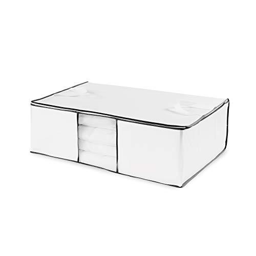 Compactor Bolsa de almacenamiento, Gama Novara, Color blanco, Tamaño 68.5 x 58.5 x 25.5 cm, Ventana transparente, RAN633
