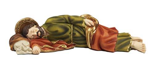 Statua San Giuseppe dormiente cm. 12,8 in Resina by Paben