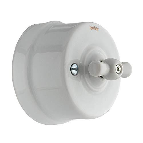 Fontini - interruptor lazo porcelana blanco nieve garby Ref. 6583010001