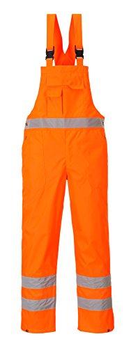 PORTWEST S388 - Warnschutz Latzhose-ungefüttert, 1 Stück, M, orange, S388ORRM