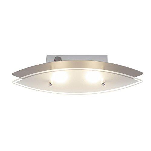 Brilliant Oval LED wandlamp met schakelaar ijzer glas 400 lumen, Samsung-LED geïntegreerd