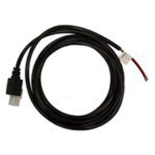 Honeywell CBL-431-300-S00 RS232 Verifone Cable, Ruby, Sapphire and Topaz Terminals, 8 Pin Modular, Straight, Host Power On Pin 8, Black