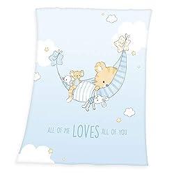 Herding Baby Best Coperta in Pile per Bambini, Polyester, Blu, 75 x 100 cm