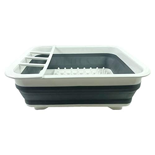 Kitchen Storage Frame Folding Drain Bowl Rack Dish Rack Cutlery Storage Box Collapsible Dish Drainer Cutlery Stand Cup Holder Kitchen Tools (Color : B) (Color : A)
