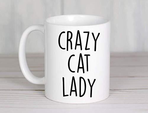 Taza loca de la señora del gato Taza de café Taza del gato Regalos del amante del gato Taza divertida del gato Tazas de la mamá del gato Taza linda del regalo del dueño del gato de la mamá del gato lo