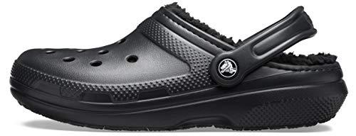 Crocs Classic Lined Clog, Zuecos Unisex, Negro, 39/40 EU