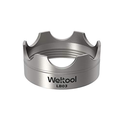 Weltool Maglite Flashlight Strike Bezel - 304 Stainless Steel for Maglite C or D Cell flashlights LED ML300L & ML300 LX - Upgrade Maglite Glass Breaker