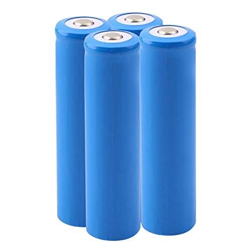 Pilas 18650 Recargables Batería De Litio Pilas 5000 Mah 3.7 V Li-Ion botón de la batería superior BateríAs De 1000 Ciclos Larga Vida A Prueba De Fugas para 18650 Linterna Radio Remoto (4Pcs)