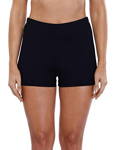 Charmleaks Women's swim bottoms Swim Bottoms Swim Shorts Swim Trunks Bottoms Size, 16, Black(fulfilled By Amazon)