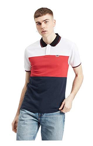 Levi's Herren Poloshirt, Sportswear Polo W Tipping White/Brilli, S