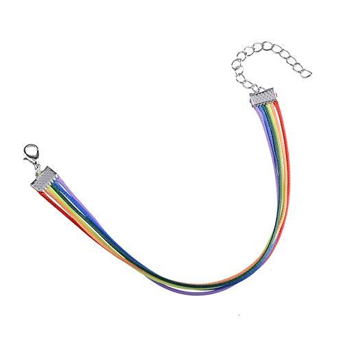 Cherry Cronin Eenvoudige regenboog-gekleurde armband zeven-kleur persoonlijkheid mannen en vrouwen sieraden trots maand handgemaakte pols