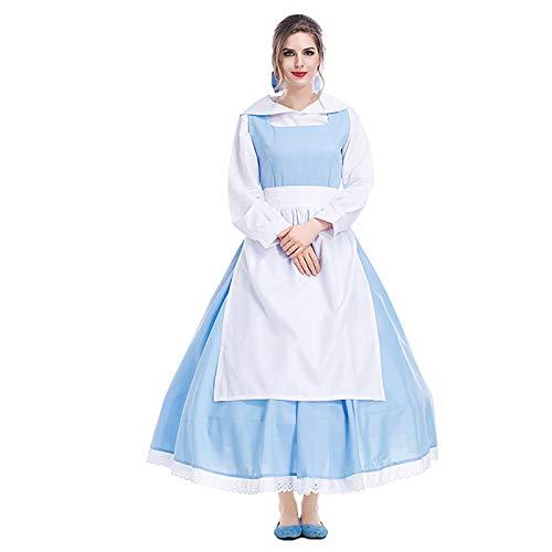 YQQWN Filmcharakter Kostüme, Thema Party Kostüme, Dienstmädchen Kostüme, Cosplay Kostüme, Cosplay Kostüm Outfit Für Anime, Mädchen Kostüm Dienstmädchen Lolita Cosplay Kostüm Outfits Set,XL
