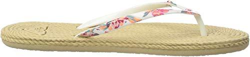 Roxy South Beach, Zapatos de Playa y Piscina para Mujer, Blanco (White Ringer Wri), 41 EU