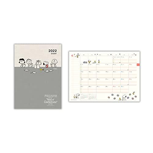 日本ホールマーク スヌーピー 手帳 2022年 A5 マンスリー ファミリー手帳 仲間と読書 790998 (2021年 12月始まり)