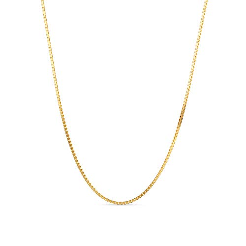 Miore 9ct Yellow Gold Ladies Venetian Chain Necklace of Length 45cm