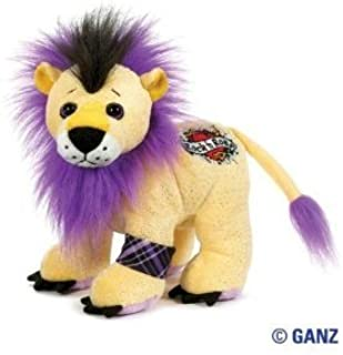 Webkinz Virtual Pet Plush - Rockerz - ROCK N' ROAR LION + Free Pack of Rock Bandz Silly Bandz Shaped Bracelets!!!