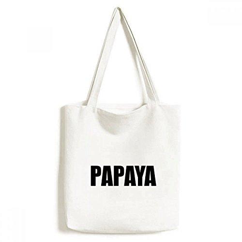 DIYthinker Papaya Fruit nom Foods Environnement fourre-Tout Sac Shopping Lavable Craft 33cm x 40 cm (13 Pouces x 16 Pouces) Multicolore