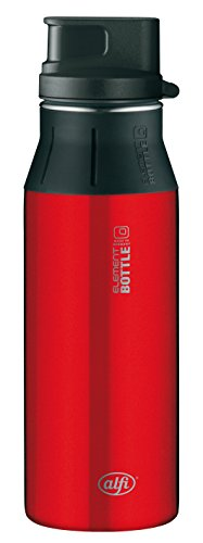 Alfi 5377153060 Trinkflasche Element Edelstahl, (0,6 Liter) pure rot