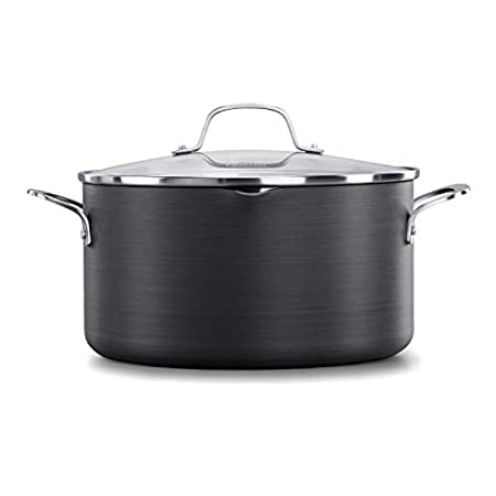 Calphalon Classic Nonstick Dutch Oven with Cover, 7 quarts, Grey