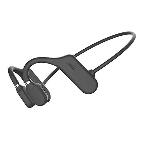 Queen.Y Cuffia a Conduzione Ossea Bluetooth Open Ear Auricolare Stereo Hifi Wireless con Microfono per Sport Fitness Ciclismo Corsa Guida Palestra