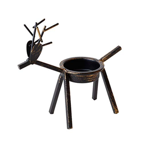 6Wcveuebuc Metal Reindeer Tea Light Candle Holders Holiday Candlestick Christmas Table Decorations for Home Fireplace