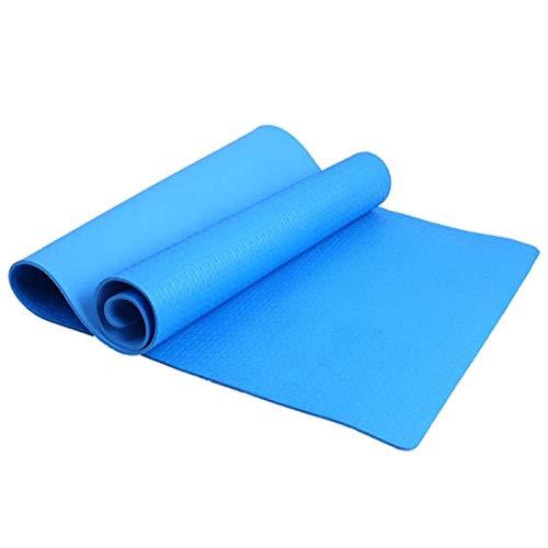 Estera de Yoga Pérdida de 4 mm de Grueso Durable Yoga Mat Antideslizante Colchoneta de Ejercicio for Peso Saludable y Fitness Bloque de Yoga (Color : Azul)