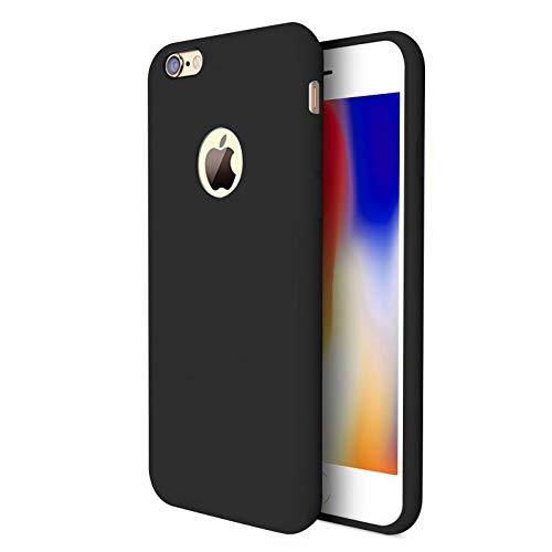 TBOC Cover per Apple iPhone 7 [4.7'] - Custodia Rigida [Nera] Silicone Liquido Premium [Sensazione Morbida] Fodera Interna Microfibra [Protegge Fotocamera] Resistente Sporco Graffi