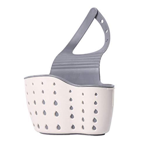 Heng zuignap gootsteen plank zeep spons afvoer rek keuken Sucker opslag Tool badkamer houder wastafel keuken accessoires, Beige